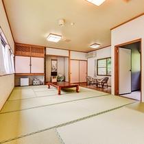 *■離れ和室14畳一例■グループさんにオススメ☆広々とゆったりお寛ぎいただけます。
