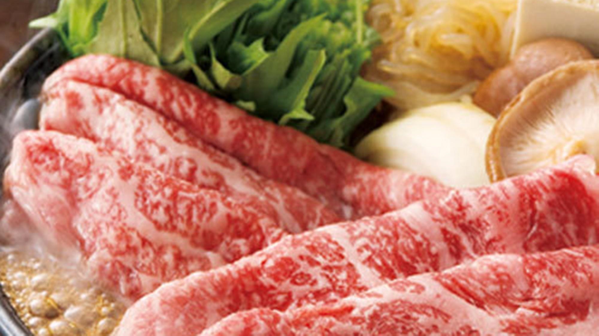*【料理】牛すき焼き一例でございます。定番の牛すき焼きもやっぱり人気です♪