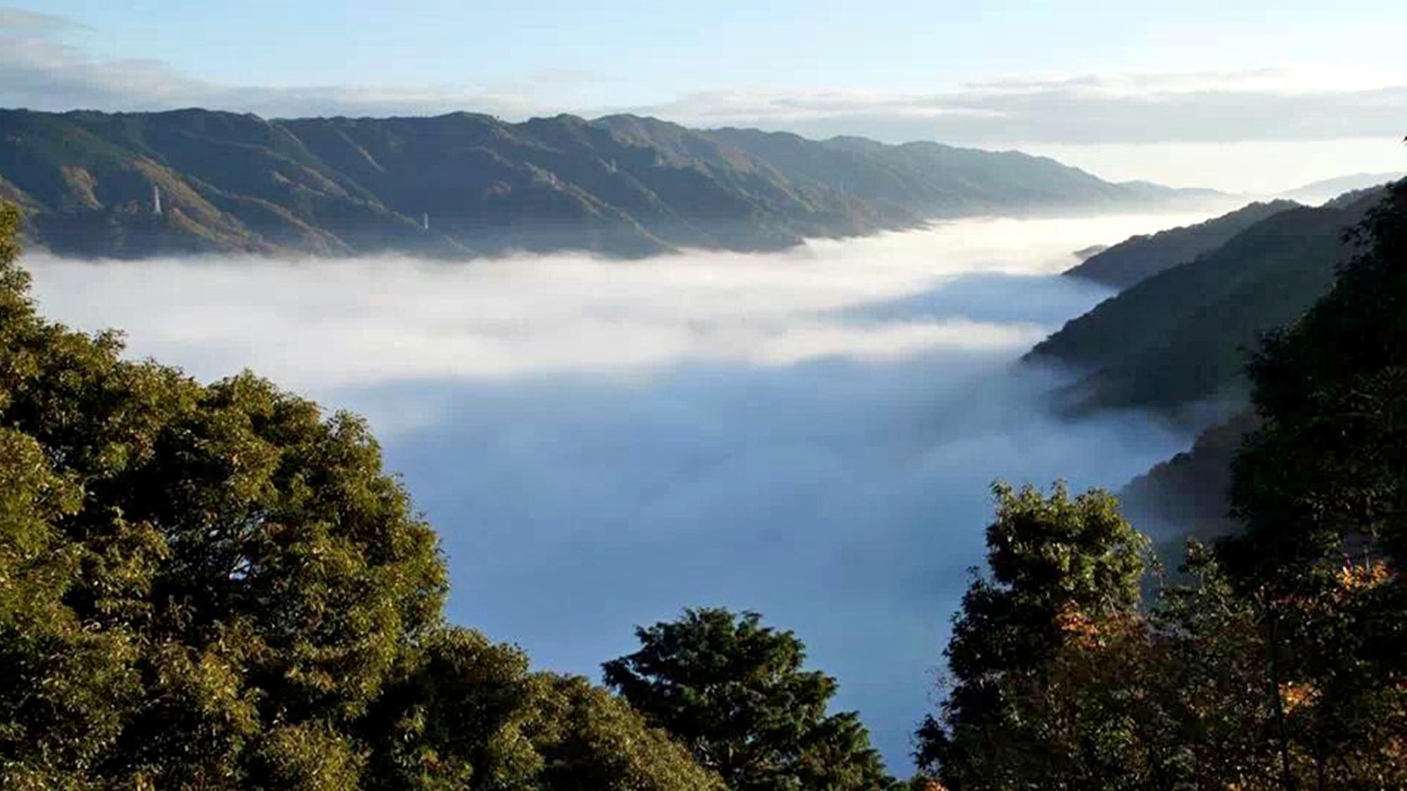 *【施設周辺】秋から冬にかけ早朝には、当館から雲海を見ることができます。
