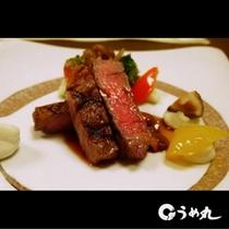 和レンチコースお肉料理の一例