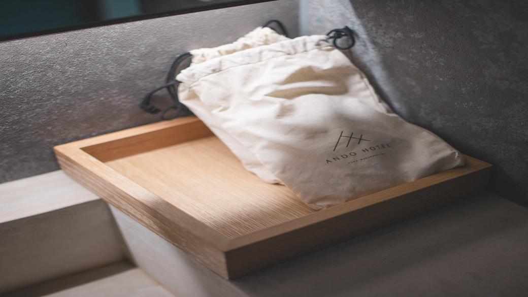 便利サイズの巾着袋はお持ち帰りいただけます。