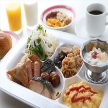 朝食バイキング(盛り付けイメージ)