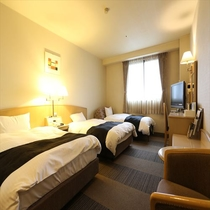 スタジオトリプル(広さ26.4㎡/ベッド幅124㎝+エキストラ)※ホテルまでお問い合わせ下さい。