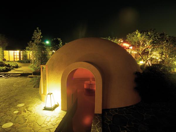 空洞の湯:ドーム型のお風呂でワクワク♪