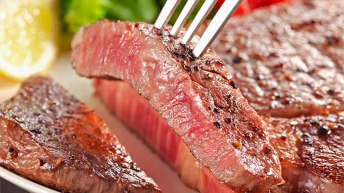 お肉好きな方にピッタリ♪鹿児島県産黒毛和牛ロースステーキ200g付き♪2食付き
