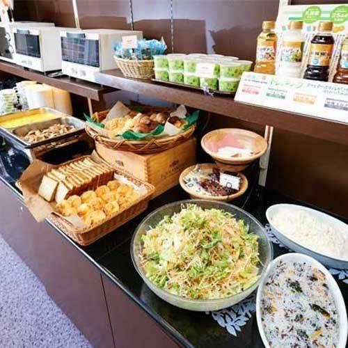 健康無料朝食♪日替わりで毎日楽しめます。和・洋・中!