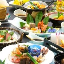【雅の膳】旬の素材を使用した会席料理(写真はイメージ)