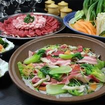 #【蒸し鍋】牛・豚・旬菜を蒸しあげるヘルシーな贅沢蒸し鍋