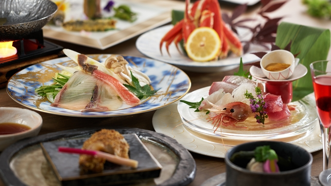 1泊2食付【日本海の幸5点盛り】【海鮮しゃぶしゃぶ】がメイン<海鮮会席>