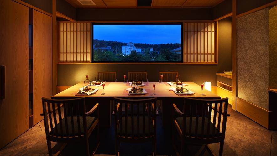 個室レストラン「雪terraceあかり」