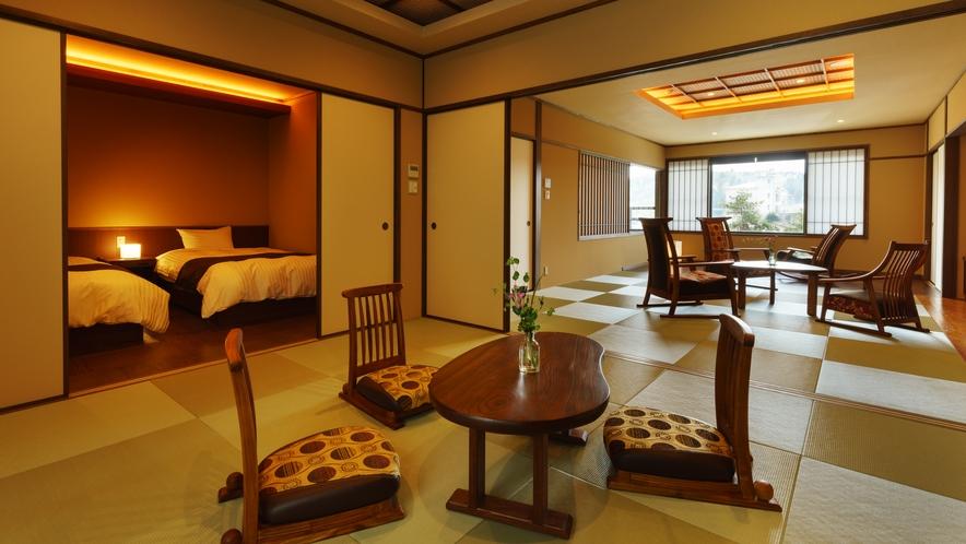 【四季邸いろは】やまぶき_和室/ベッドルーム/リビング/半露天風呂