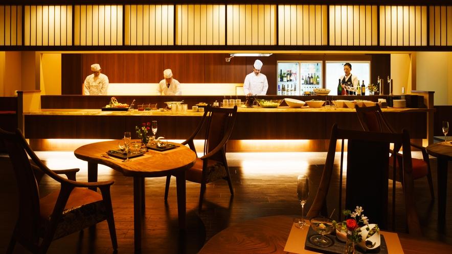 オープンキッチンレストラン「月terraceえん」