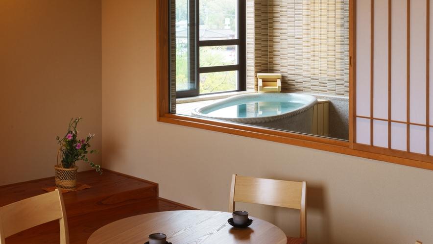 【四季邸いろは】あかね_和室/ベッドルーム/リビング/半露天風呂