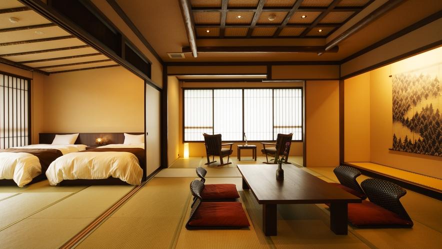 【さつき邸やまのは】つつじ_和室/ベッドルーム/リビング/展望風呂