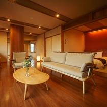 【四季邸いろは】 あかね : 和室/リビング/ベッドルーム/半露天風呂付(禁煙)