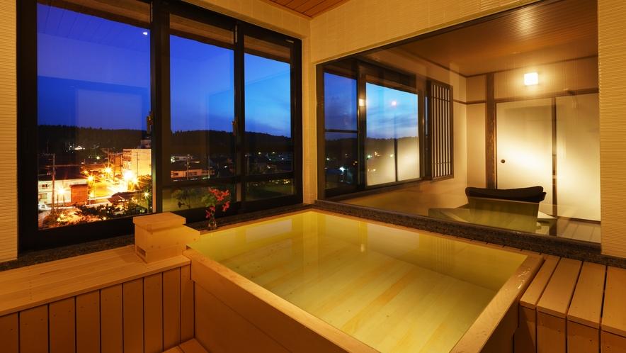 【四季邸いろは】ゆき_和室/ベッドルーム/リビング/半露天風呂