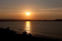 渚館3から見る夕日