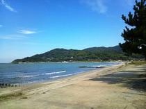 浜崎海岸福岡方面を望む