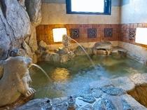 貸切 岩風呂(アシカさんのお口からお湯が出るよ)