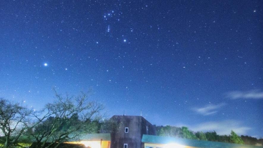 おうし座とオリオン座☆夜は満点の星空が◎