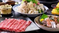 【特選黒毛和牛 すき焼き鍋セット】(一例)