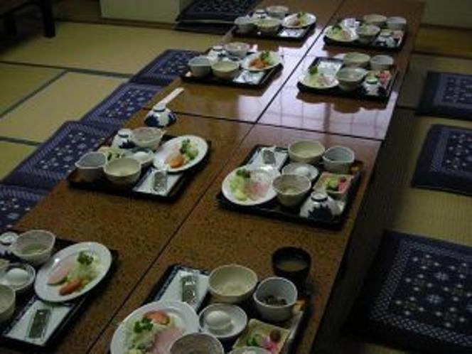 グループの朝食