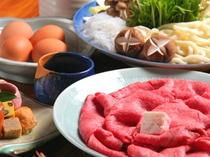 神戸牛すき焼会席例