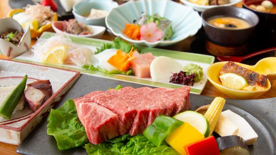 神戸牛ステーキ付き季節の会席
