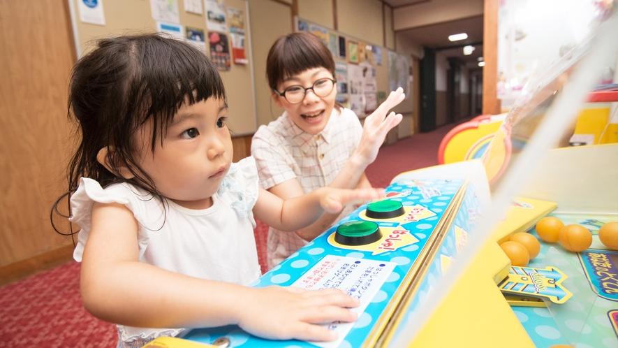 ゲームコーナーには、小さなお子様向けのゲーム機や各種クレーンゲームをご用意しております。