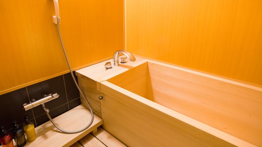 【14畳 和室 高野槙でできた部屋風呂】