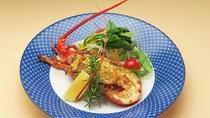 【夕食】伊勢海老の香草焼きサラダ仕立て