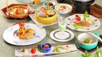 【夕食】初夏:彩り特撰会席:バラエティに海の幸を思う存分お楽しみいただけます。