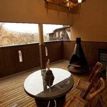 山望の湯テラス