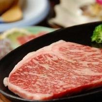 【夕食・ステーキ】