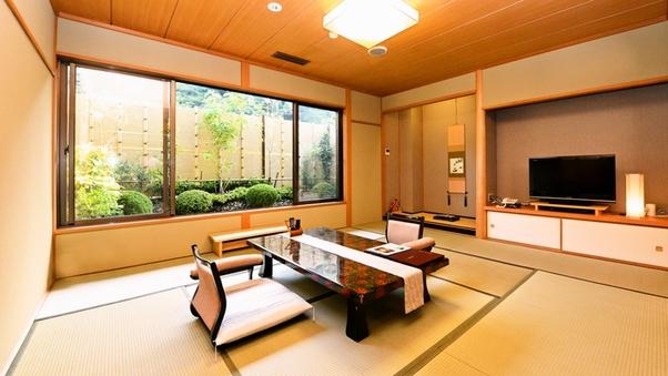 令和3年改装【2階庭園付き純和室】源泉掛流し露天風呂
