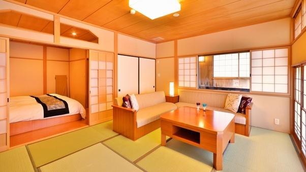 【和風庭園一望 2階和洋室 テラス付】源泉掛流し半露天風呂