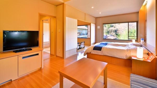 【和風庭園一望 2階和洋特別室 角部屋】源泉掛流し半露天風呂