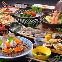 【朝食の一例】朝から新鮮なお刺身をお召し上がり頂きます。温野菜も体にやさしい1品です。