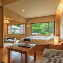 【庭園一望特別室 -高円-】純和風の和室も愉しめる贅沢なつくり。