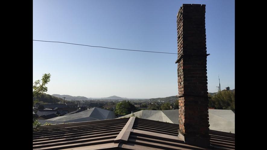 *【煙突】当館には珍しい煙突があります