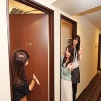 隣り合ったお部屋なら女子会もOK!