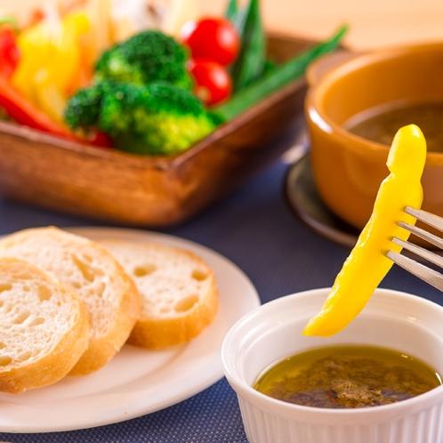 【朝食】野菜をたっぷり摂れる!大人気のバーニャカウダ♪