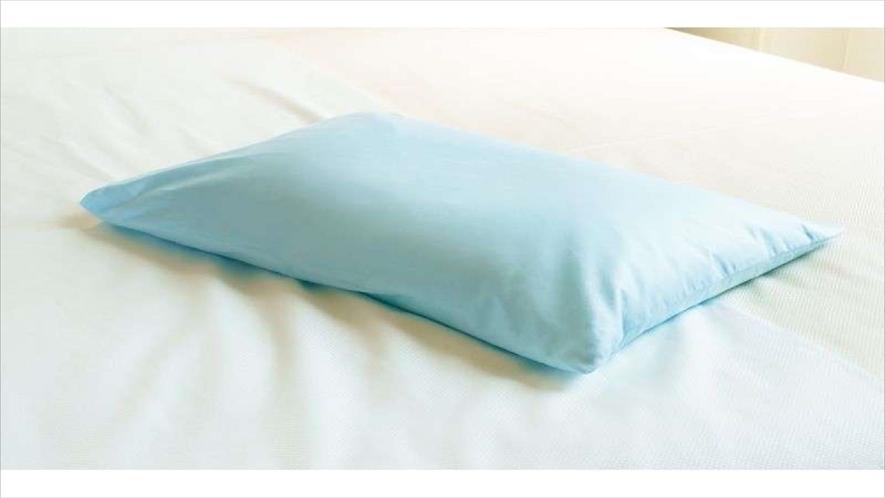 【Smart・貸出枕・数量限定】青色枕・・そば殻のようなパイプ枕は高めがお好みの男性に大人気♪