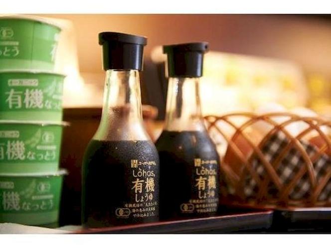 【有機しょうゆ・納豆】素材にこだわりオリジナル有機しょうゆと納豆を提供しております。