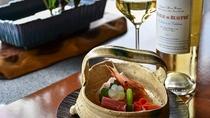 【美食と美酒のマリアージュ】料理は目で見て楽しむと言われますが、そんな言葉が良く似合う極みの料理