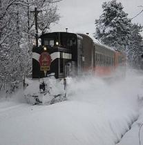 津軽鉄道と地吹雪