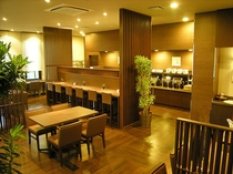 ご朝食はレストラン「花茶屋」で。6:30〜9:00までご利用いただけます。