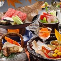 【秋】松茸土瓶蒸し、山形牛朴葉焼、山形いも煮など秋色満喫 ※画像はイメージです