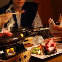 【レストラン半個室】食事風景