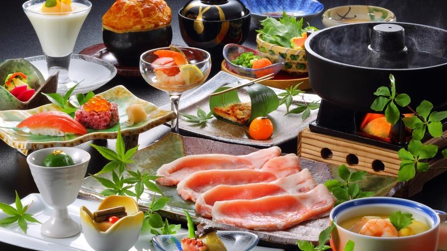 【米の娘ぶたしゃぶメイン】山形自慢のホエー米の娘豚を使用した和食膳※旬の素材により料理内容異なります
